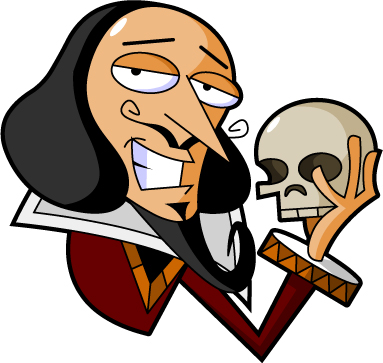 Image result for shakespeare cartoon